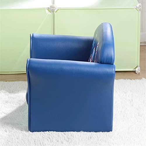 Dfghbn Sofá infantil para niños, muebles para niños, sofá individual para niños, serie espacial, modelo de astronauta muebles para niños (color: azul, tamaño: 50 x 39 x 44 cm)
