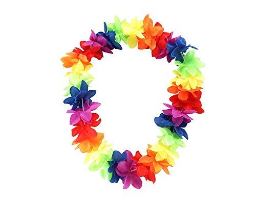 Eboot - Collar hawaiano de flores, fiesta en la playa, multicolor , color/modelo surtido