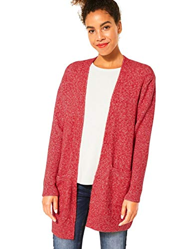 Street One Damen 253080 Style Canice Strickjacke, Blazing red Melange, 40