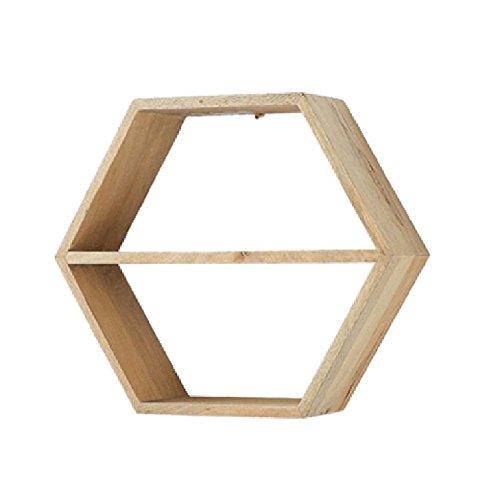 Wubing Wandregal Floating Display Stand Bookshelf Storage Dekorative Multifunktions-Sechseck Kiefernholz , 45x15x39cm Badezimmer Regal (Color : C)