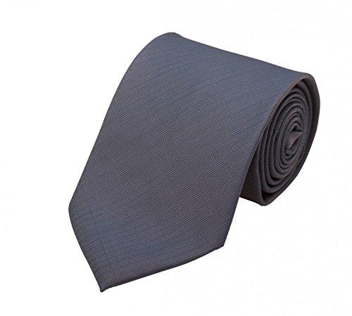 Fabio Farini - Elegante Herren Krawatte unifarben in 8cm Breite in verschiedenen Farben für jeden Anlass wie Hochzeit, Konfirmation, Abschlussball Grau