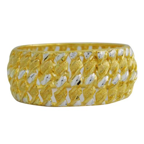 Banithani ethnische traditionelle vergoldet Frauen Kada Armband Armreif indischer Schmuck 2 * 10