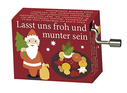 Fridolin Spieluhr Lasst Uns froh und munter Sein Mini Drehorgel Kurbelwerk Weihnachten