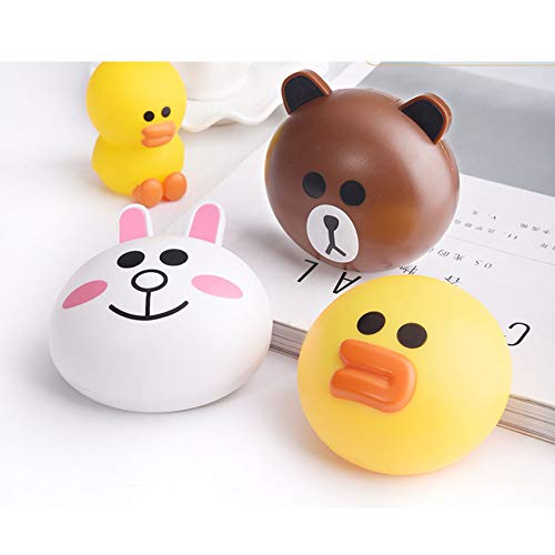 AKOAK 3 Pcs/Set Contact Lens Case, Cute Animal Contact Lens Case Rabbit, Bear and Duck, Travel Kit Easy Carry Mirror Container