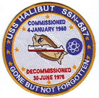 US Navy Ship Patch, USS Halibut, SSN-587 Y by HighQ Store