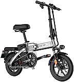 Bicicleta Eléctrica Plegable Bicicleta eléctrica de nieve, adultos Bicicleta eléctrica Ebikes Doblading Ebike Lightweight 350W 48V 18.8Ah con pantalla LCD de 14 pulgadas y pantalla LCD con batería de