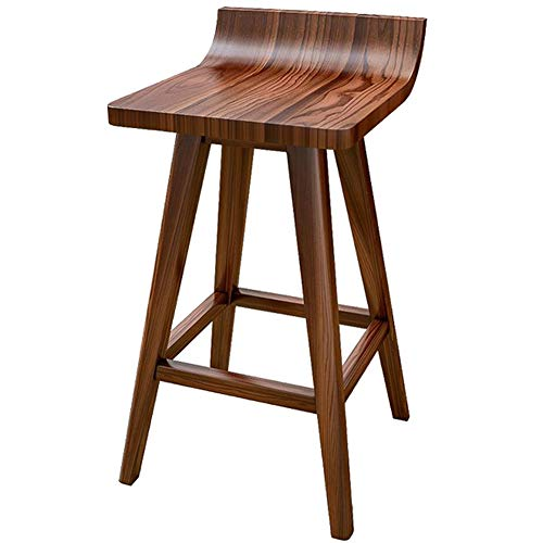ACXZ Tabouret de Bar Design en Bois Massif 75 cm, Chaises de Bar Moderne d'accent Nordique pour café/Table de Petit-déjeuner/Cuisine, Tabouret Hauts 65 cm