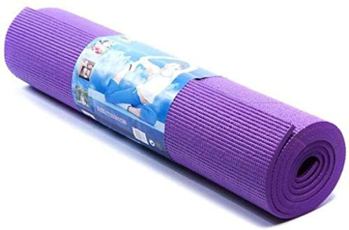 Rinki Home Furnishing Yoga Mat with Anti Skid Yoga mat for Gym Workout and Flooring Exercise Long Size Yoga Mat for Men and Women, Boys and Girls 5mm (Purple)