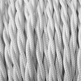 Cable Eléctrico Tejido blanco–cable textil...