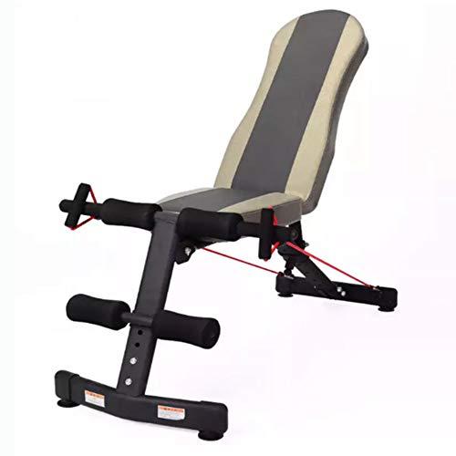 DSHUJC Bancs De Musculation Réglables, Banc D entraînement Pliable Banc Sit-Up Multifonctionnelle Fauteuil d exercice pour Muscles Abdominaux, pour La Salle De Gym De Salon À Domicile