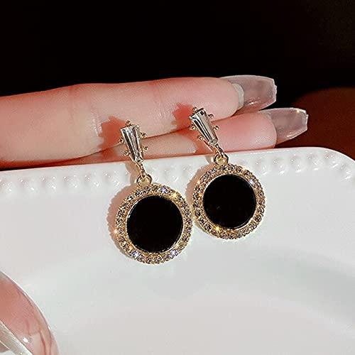 Landia Pendientes redondos de lentejuelas para las mujeres Diseño popular 14 K Cubic Zirconia Joyería Bead S925 Plata Aguja 2021