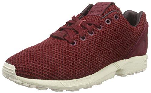 adidas Originals ZX Flux AF6310, Unisex-Erwachsene Low-Top Sneaker, Rot (Collegiate Burgundy/Night Red/Chalk White), EU 41 1/3