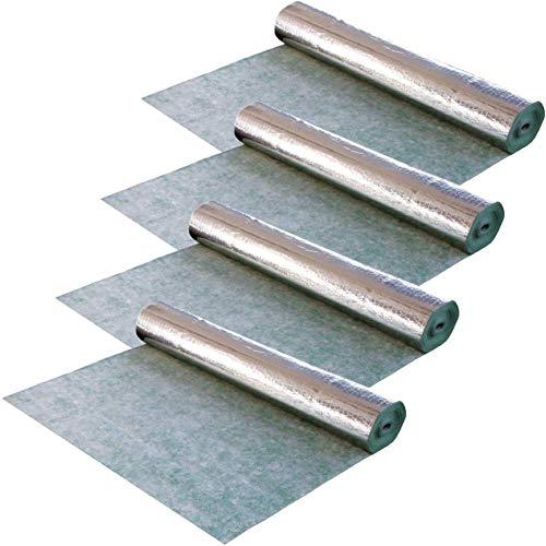 Trittschalldämmung Akustik 4x 1m x 10m (40m²) Vlies & Dampfbremse integriert - u.a. für Parkett, Laminat, Fußbodenheizung