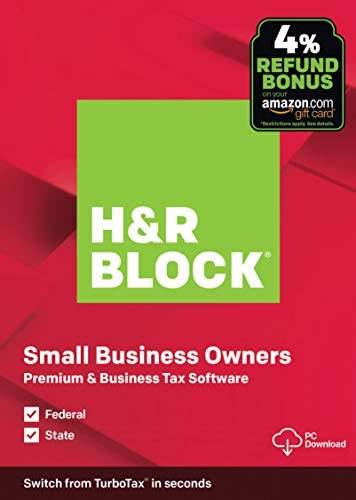 OLD VERSION H R Block Tax Software Premium Business 2019 Amazon Exclusive PC Download product image