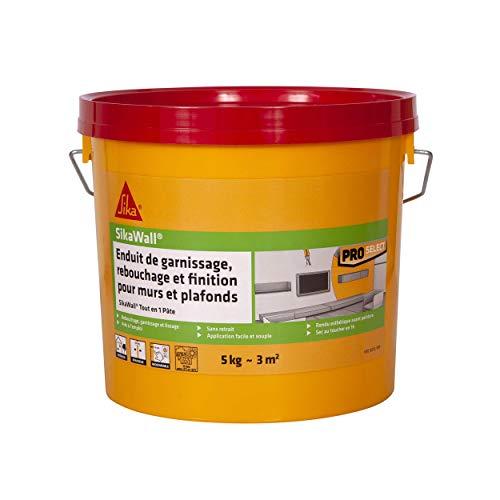 SikaWall - Reparador universal listo para usar todo en 1 en pasta, recubierta de reatascado, alisado y acabado (5 kg ~ 3 m2)