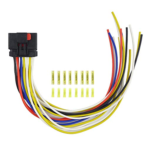 Qnbes Harness Connector Wiring Pigtail 14 Way Fit for Jeep Grand Cherokee WJ Wrangler Dodge Ram Chrysler 1997-2011, Connector Pigtail Compatible with Door & Body, Replace for 5013961AA S1960