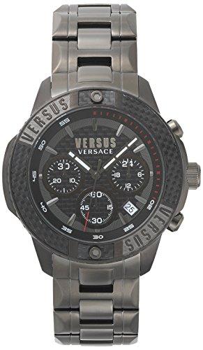 Versus by Versace Herren Analog Quarz Uhr mit Edelstahl Armband VSP380517