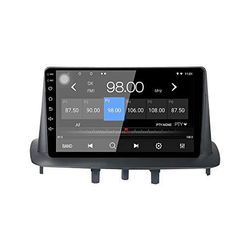 LEXXSON Autoradio Android 10.1 per Renault Megane 3 2009-2014 | Radio AM FM da 9 pollici con navigazione GPS Wifi Controllo del volante Collegamento dello specchio Ingresso fotocamera posteriore