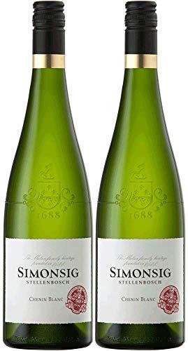 Simonsig Chenin Blanc 2019 Paket | Weißwein aus Südafrika (2 x 0.75l) | Trocken | Weine für jeden Geschmack