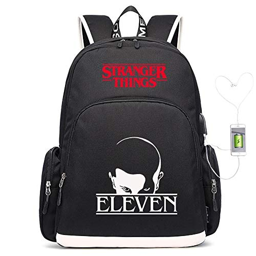 Backpack Luminous School Stranger Things Printed College Laptop Bag For Adults/Elementary/middle School Students With Charging Hole Not luminous-18 inches