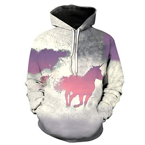 Herbst 3D Animal Print Hoodie Casual Sweatshirt Pullover Loose Sweater Top