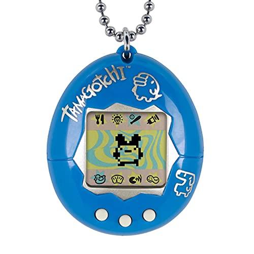 Bandai Tamagotchi Original Blue/Silver Virtual Pet Device Electronic Game