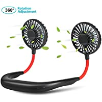Colorfulife 2600mAh Rechargeable Battery Operated Neck Fan