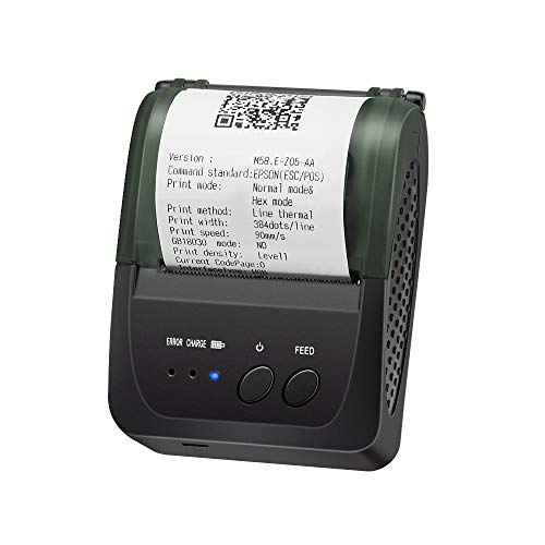 Bluetooth Thermal Receipt Printer, LOSRECAL Portable Personal Bill Printer, Mini Wireless 58mm Mobile Printer Compatible with Android/Windows, DO NOT Support Square/iOS/ipad/iPhone