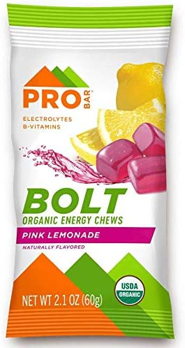 PROBAR - Bolt Organic Energy Chews, Berry Blast, Non-GMO, Gluten-Free, USDA Certified Organic, Healthy, Natural Energy, Fast Fuel Gummies with Vitamins B & C (12 Count)