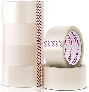 Packatape - 6 rouleaux de ruban d'emballage transparent de 48 MM x 66 M pour colis et boîtes de bande de conditionnement