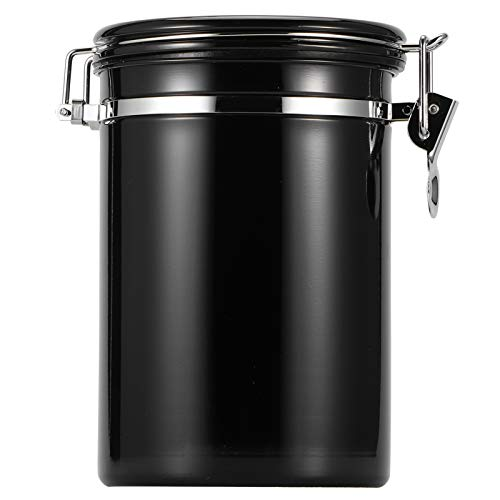 Stainless Steel Sealed Food Container, Sealed Pot, Kitchen(black, 1.8L【Approximately 750g】)