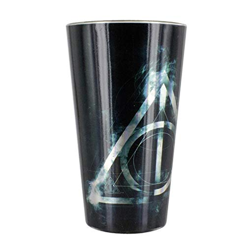 Paladone Harry Potter XL Cristal Deathly Hallows – Los Santios de la Muerte, 500 ml