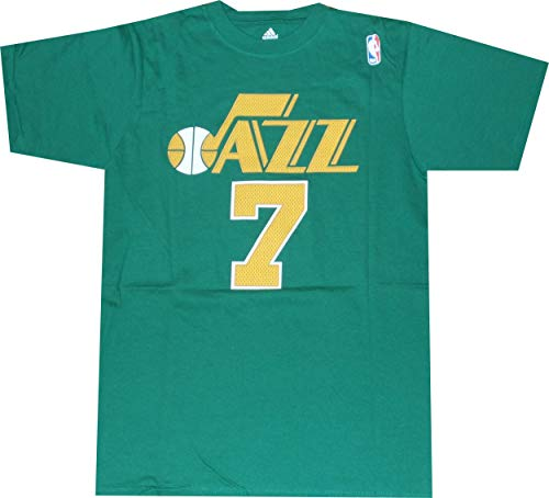 adidas Utah Jazz Pete Maravich Throwback Green T Shirt Jersey (Medium)