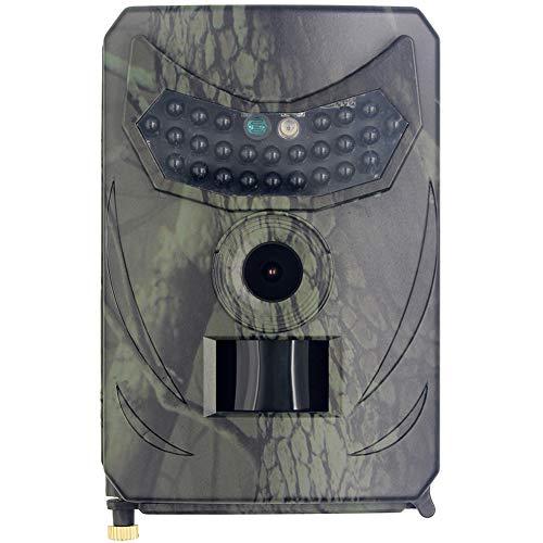 MZBZYU Camaras de Caza Camuflada con Función de Visión Nocturna IP56 Impermeable Gran Angular de 120° para Rastrear Hábitos de Actividad de los Animales y Cámara Deportiva y Cámara de Vigilancia
