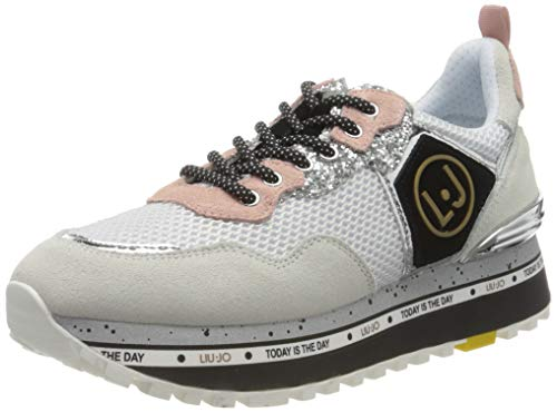 Liu Jo Shoes Maxi Alexa-Running, Scarpe da Ginnastica Basse Bambina, Bianco (White 01111), 35 EU