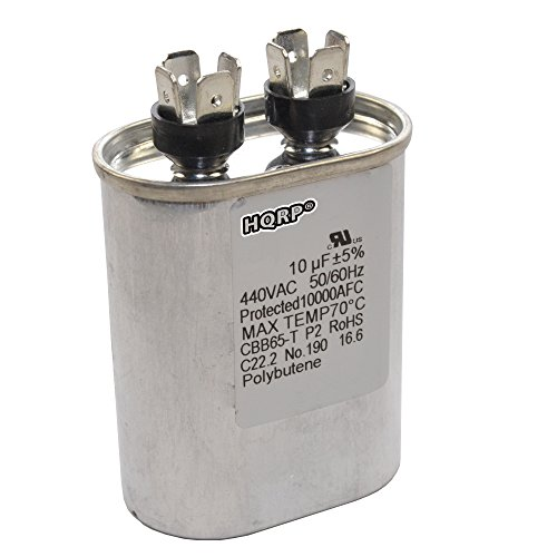 HQRP 10uf 370-440V Kondensator kompatibel mit Start des Wechselstrommotors HVAC Blower Compressor Trane Furnace 10MFD 27L669 97F9002 Jandy Carrier Payne