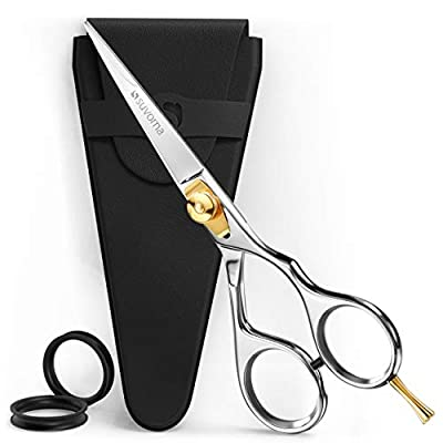 """Suvorna Condor 5"""" Beard Scissors For Men Is A Perfect Tool For Your Mens Beard Grooming Kit For Men. These Beard Trimming Scissors Can Also Be Used As Moustache Scissors Comes With Tension Adjustment"""