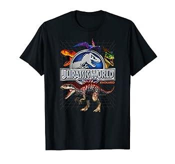 Jurassic World Evolved Dino Grid T-Rex Graphic T-Shirt