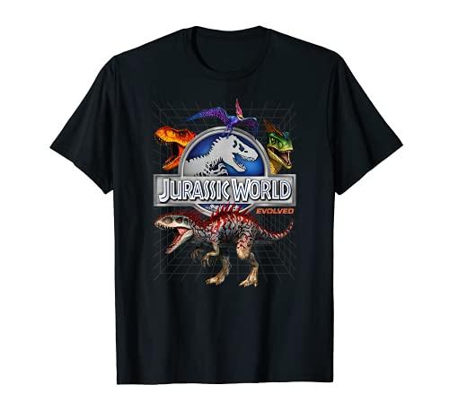 Jurassic World Evolved Dino Grid T-Rex Camiseta