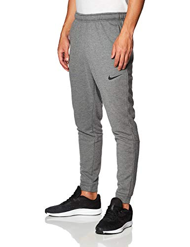 Nike Herren Sport Trousers M NK Dry Pant Taper Fleece, Charcoal Heathr/(Black), 2XL, CJ4312