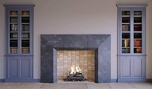 Read About Gallinara Modern Real Stone Fireplace Mantel and Surround 42 Inches x 36 Inches Wood Burn...