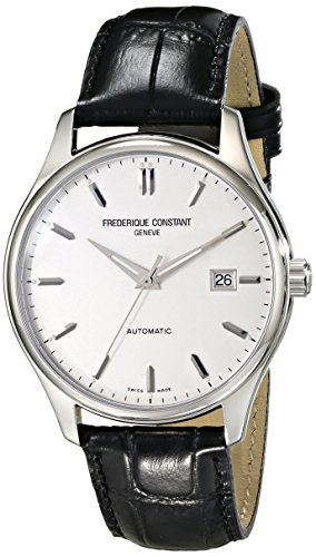 Frederique Constant Men's FC303S5B6 Index Analog Display Swiss Automatic Black Watch