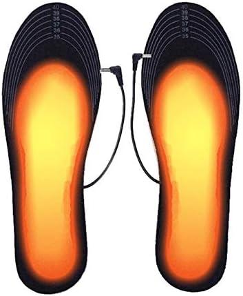 USB Verwarming Binnenzool Wasbaar en Snijden Elektrische Verwarmde Schoenen Binnenzolen voor Vrouwen Mannen schoenen Winter Voetwarmers voor Winter Jacht Ski Vissen Wandelen