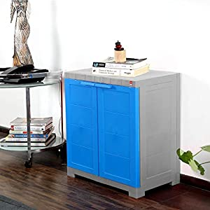 Cello Novelty Compact Cupboard - Blue and Grey