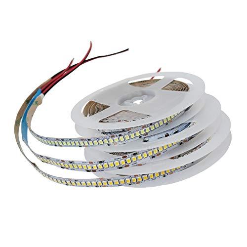 H/A DC 5V 12V 24V 28V SMD 2835 LED con luz de 5m LED Blanco LED no Puede Impermeable Cocina Ligera Cocina Decoración para el hogar TV SADDM (Color : Warm White, Size : 12V-240leds)