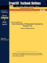Cost Accounting: A Managerial Emphasis 12th edition