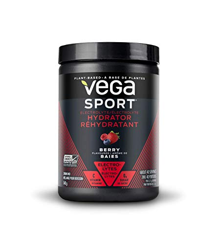Vega Sport Electrolyte Hydrator Berry (30 Servings, 5.2oz) - Keto-Friendly, Gluten Free, Non Dairy, Vegan, Sugar Free, Non GMO (Packaging May Vary)