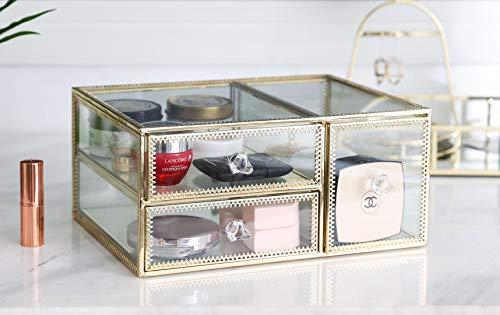 Vanity - Organizador de maquillaje de cristal para pintalabios, perfumes, accesorios de baño