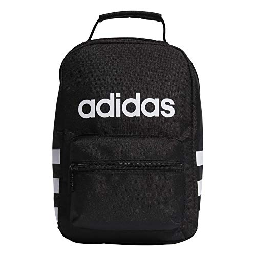adidas Unisex Santiago Insulated Lunch Bag, Black/ White 2, ONE SIZE