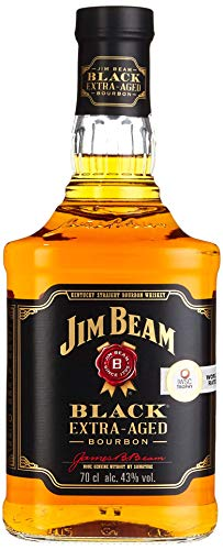 Jim Beam Black Extra-Aged Kentucky Straight Bourbon Whiskey, einzigartiges und ausbalanciertes Aroma, 43% Vol, 1 x 0,7l